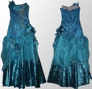 Продам вечернее платье цвета морской волны