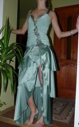 Платье вечернее,  атласное