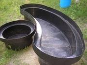 Изготовление чаш для пластиковых садовых прудов и водоемов