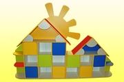 Стенка детская Домик,  Мебель для детского сада
