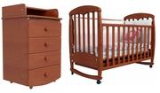 Дуэт Верес ЛД-1 (кроватка + комод пеленатор 90x60)