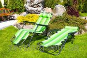 Раскладной стул шезлонг Зеленый