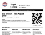 Билет на Sziget 2016