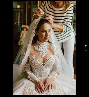продам эксклюзивное свадебное платье из дорогого необычного кружева