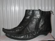 Продам кожаные осенние полусапоги 38-39р .
